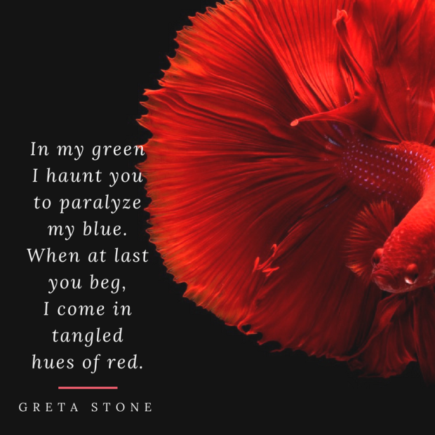Tangled Hues of Red - Poem by Greta Stone