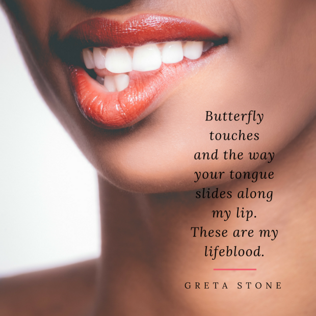 Butterfly touches poem by Greta Stone