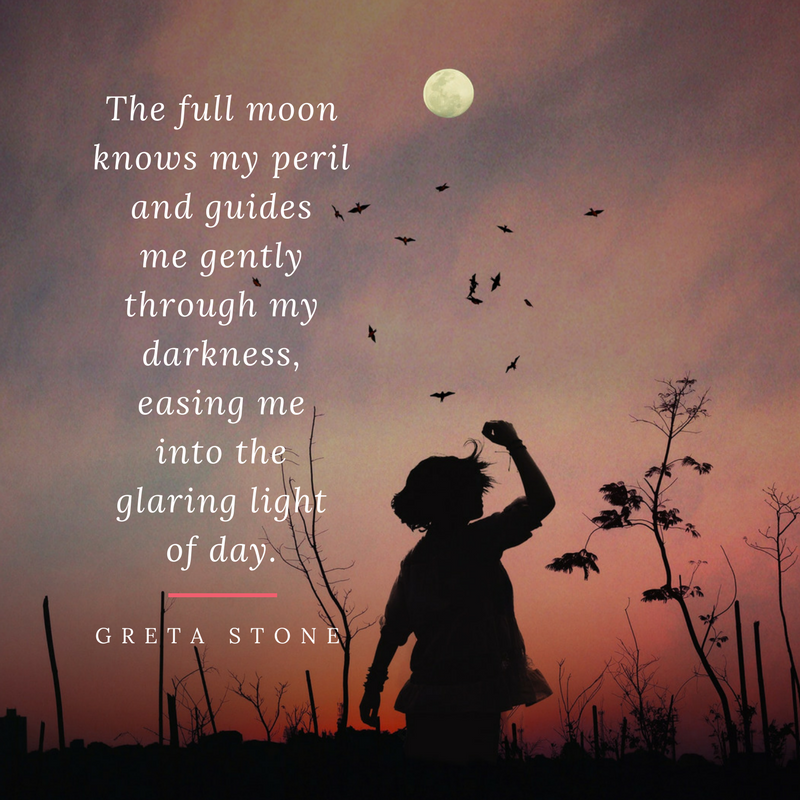 Full moon poem by Greta Stone